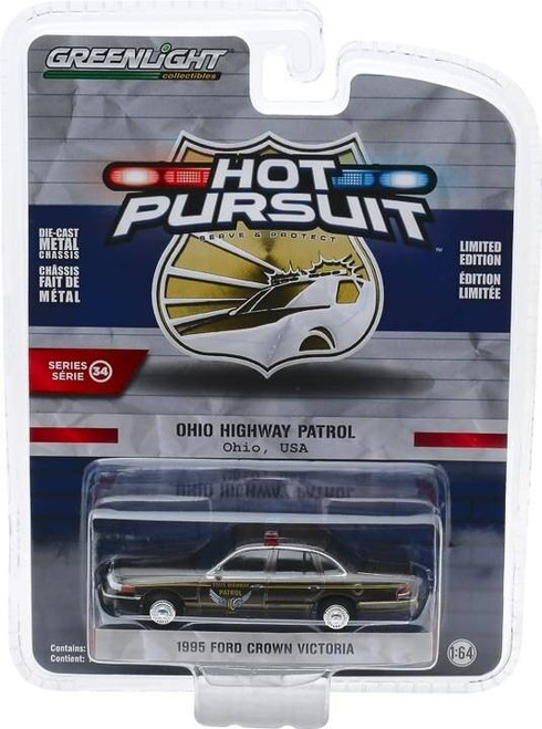 Greenlight Greenlight 1/64 Hot Pursuit 34 - 1995 Ford Crown Victoria Police Interceptor - Ohio Highway Patrol