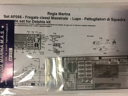 Regia Marina 1/700 Frigate Class Maestrale and Lupo Photo Etch set for Delphihs Models kit
