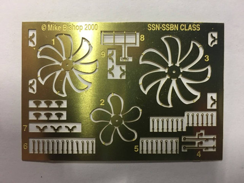Yankee Modelworks 1/350 Yankee Models Photo Etch for SSN and SSBN Class Submarines