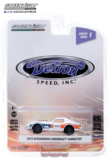 Greenlight Greenlight 1/64 BFGoodrich - 1972 Chevrolet Corvette in Red, White and Blue