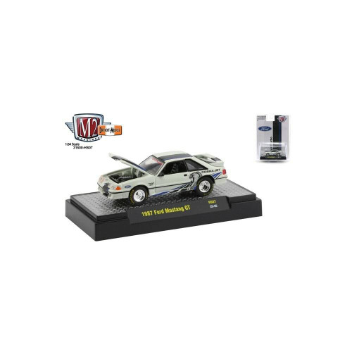 M2 Machines 1/64 M2 Machines Hobby Special 1987 White Ford Mustang GT Cobra Jet Twin Turbo