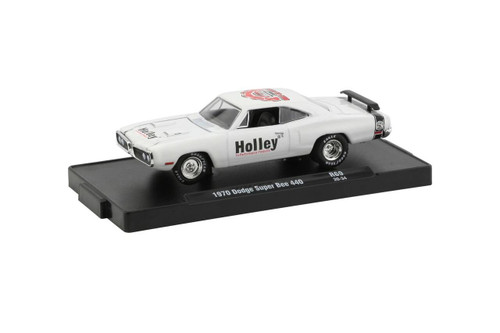 M2 Machines 1/64 M2 Machines Drivers 69 Holley 1970 Dodge Super Bee 440 in Bright White with Semi-Gloss Black Stripe
