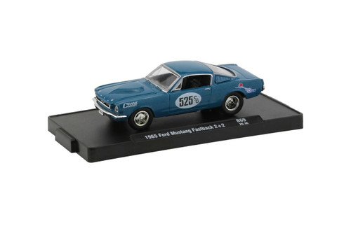 M2 Machines 1/64 M2 Machines Drivers 69 Crane Cams 1965 Ford Mustang Fastback 22 in Twilight Turquoise Metallic