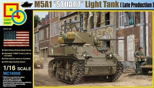 Classy Hobby Classy Hobby 1/16 Scale M5A1 Stuart Late Production