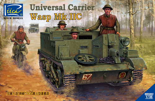 Riich Models 1/35 Canada Built Universal Carrier Wasp Mk.Iic 2 In 1