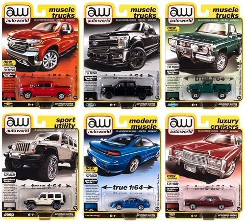 Auto World 1/64 Auto World Premium 2020 Release 5 Set B 6-Car Sealed Case Diecast