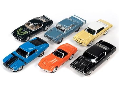 Johnny Lightning 1/64 Johnny Lightning Muscle Cars 2020 Release 3A - 6-Piece Set
