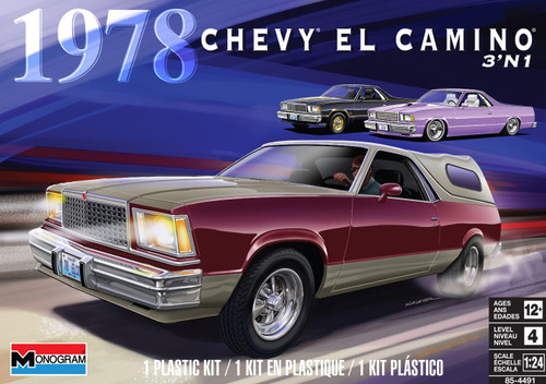 Revell 1/24 Scale 78 Chevy El Camino 3N1