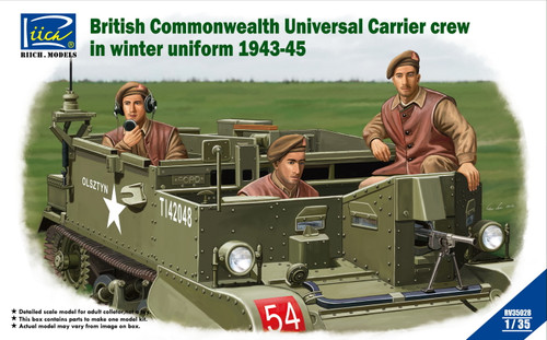 Riich Models 1/35 Scale British Commonwealth Universal Carrier Crew In Winter Uniform 1943-1945