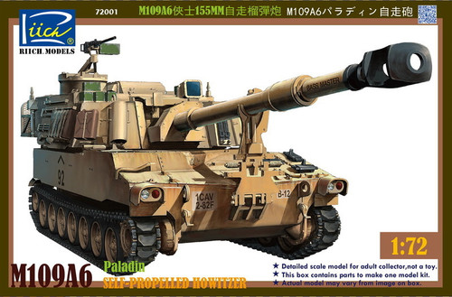 Riich Models 1/72 Scale M109A6 Paladin Self- Propelled Howitzer