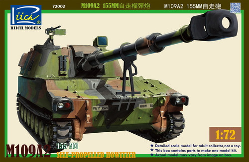 Riich Models 1/72 Scale M109A2155Mm Self-Propelled Howitzer