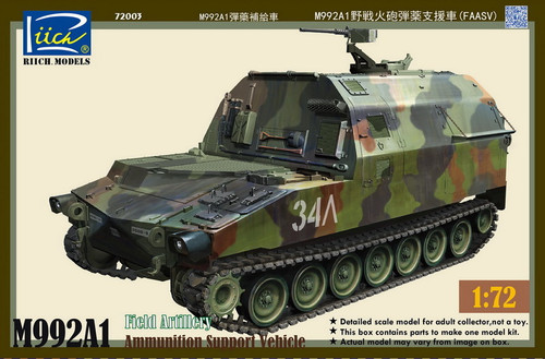 Riich Models 1/72 Scale M992A1 Field Artillery Ammunition Support Vehicle (Fmsv)