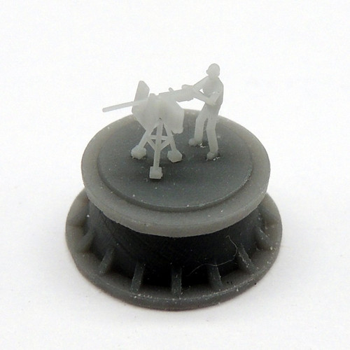 Black Cat Models 1/350 Scale M2 Browning Single With Gunner, On Tripod, Modern Version (X8)