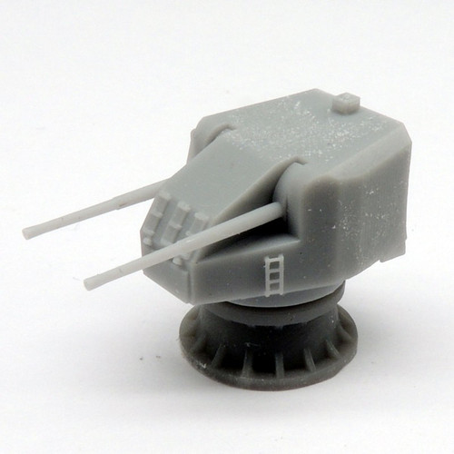 Black Cat Models 1/350 Scale Twin 4.7In Qfsa Mk.Xi Gun On Mk.Xx Mounting (X2)