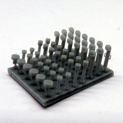 Black Cat Models 1/350 Scale Deck Accessory Set N°5 ( Small Cowl Vents And Mushroom Vents)