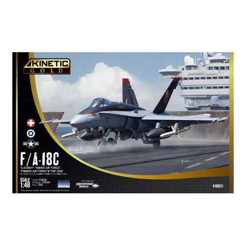 Kinetic Models 1/48 Scale F/A-18C Us Navy, Swiss Airforce, Finnish Airforce