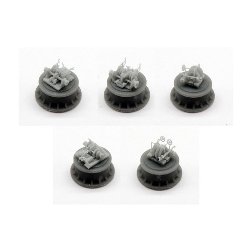 Black Cat Models 1/350 Scale Steam Windlass Set