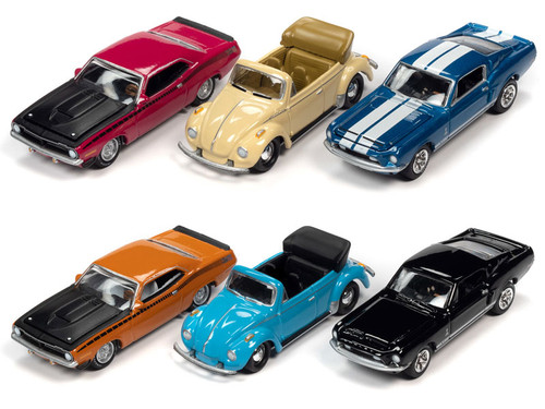 1/64 Johnny Lightning Collector's Tin 2020 Release 3 - 6-Piece Set (CASE of 6)