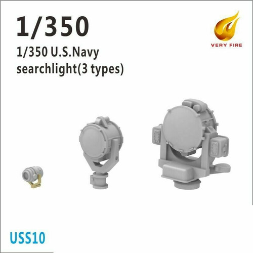 Very Fire 1/350 Scale USS Searchlight (3 Types, 12 Sets)