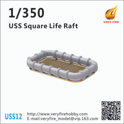Very Fire 1/350 Scale USS Life Square Rafts (30 Sets)
