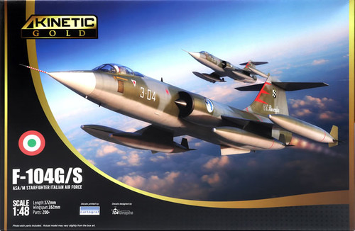 Kinetic Models 1/48 Scale F-104G/S: ASA/M Starfighter Italian Air Force