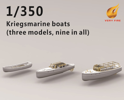 Very Fire 1/350 Scale DKM Boats (3 types, 6 sets)
