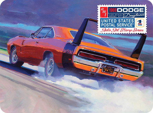 AMT Models 1/25 Scale 1969 Dodge Charger Daytona USPS Stamp Series Collector Tin