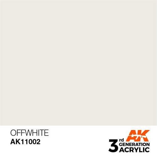 AK Interactive 3rd Generation Paint - Offwhite 17ml