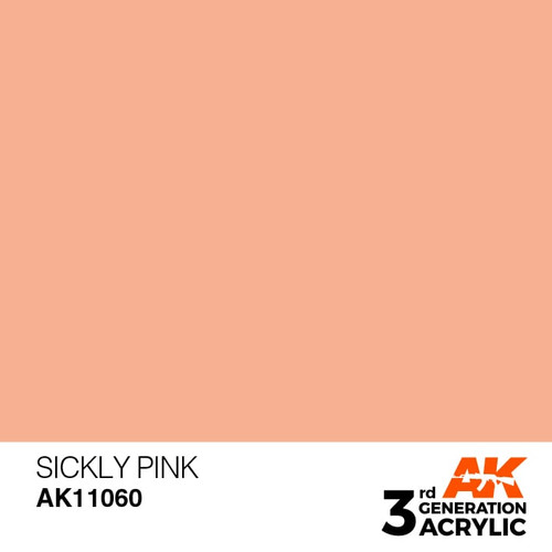 AK Interactive 3rd Generation Paint - Sickly Pink 17ml