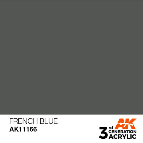 AK Interactive 3rd Generation Paint - French Blue 17ml