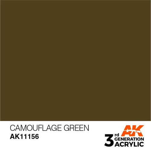 AK Interactive 3rd Generation Paint - Camouflage Green 17ml