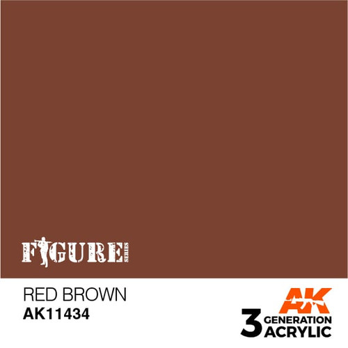 AK Interactive 3rd Generation Paint - Red Brown