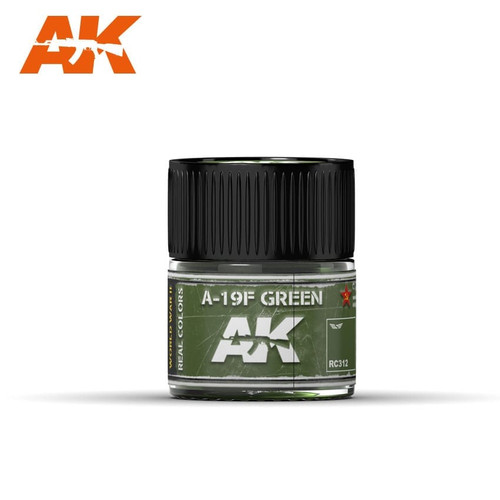 AK Interactive Real Colors - A-19F Grass Green 10ml