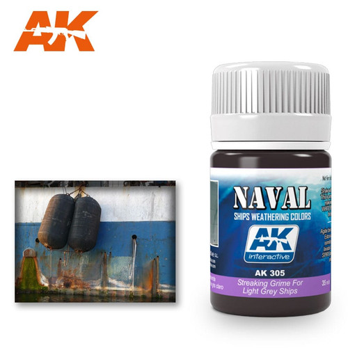 AK Interactive Streaking Grime - For Light Grey Ships 35ml