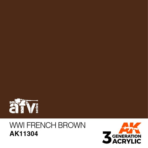 AK Interactive 3rd Generation Paint - WWI French Brown