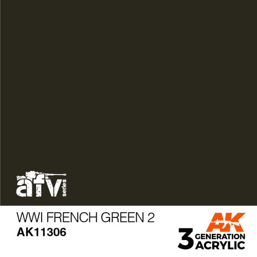 AK Interactive 3rd Generation Paint - WWI French Green 2
