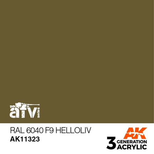 AK Interactive 3rd Generation Paint - RAL 6040 F9 Helloliv