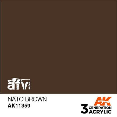 AK Interactive 3rd Generation Paint - NATO Brown