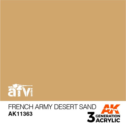 AK Interactive 3rd Generation Paint - French Army Desert Sand