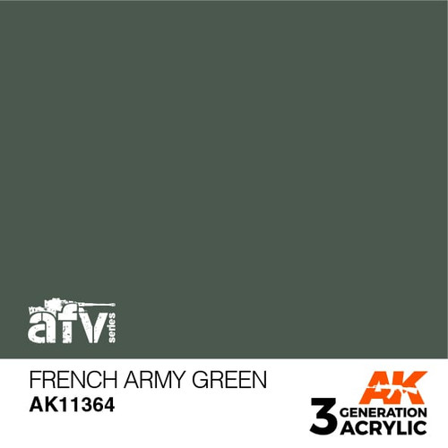 AK Interactive 3rd Generation Paint - French Army Green