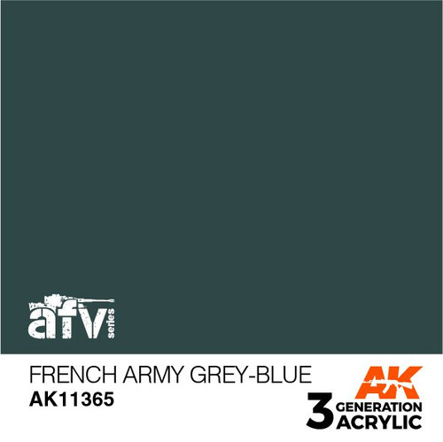 AK Interactive 3rd Generation Paint - French Army Grey-Blue