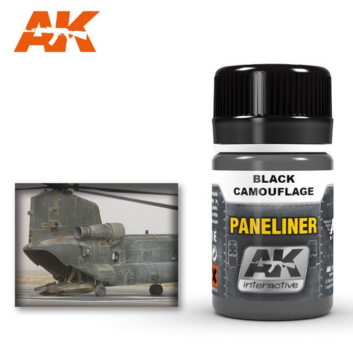 AK Interactive Paneliner - For Black Camouflage 35ml