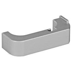 SUAREZ COMBAT MAGAZINE RELEASE FOR GEN 4 GLOCK - SILVER FINISH