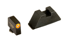 AMERIGLO TRITIUM SUPPRESSOR HEIGHT SIGHTS, BLK REAR & ORG FRONT