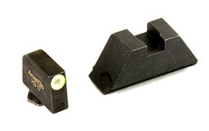 AMERIGLO TRITIUM SUPPRESSOR HEIGHT SIGHTS, BLK REAR & YLW FRONT