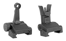 Midwest Industries, Combat Rifle Sight Set, Adjustable Front and Rear Sight, Low Profile, Flip-Up, Includes A2 Sight Tool, Black Finish