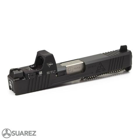 SUAREZ SUPERMATCH SI-319 TRIJICON RMR SLIDE (FOR GEN 3 G19) - BLACK