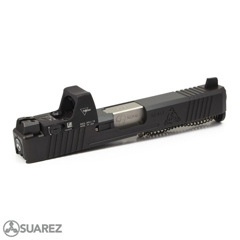 SUAREZ SUPERMATCH SI-319 TRIJICON RMR SLIDE (FOR GEN 3 G19) - BLACK