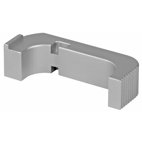 SUAREZ COMBAT MAGAZINE RELEASE FOR GEN 5  GLOCK - SILVER FINISH