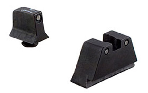 TRIJICON SUPPRESSOR TRITIUM SIGHTS GREEN/NO WHITE OUTLINE - FOR GLOCK 45/10MM